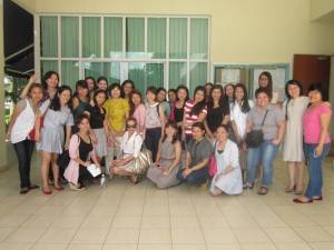 Post-graduate preschool diploma students from Phillipines