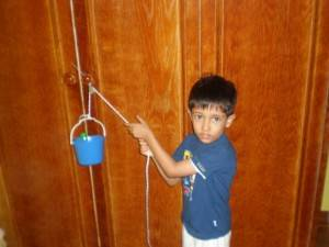 DIY home-based pulley project