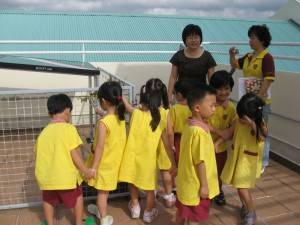 Visit by neighbouring Cherie Hearts preschoolers
